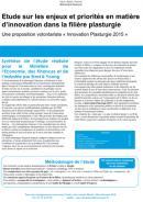 Synthèse de l'étude sur les enjeux et priorités en matière d'innovation dans la
