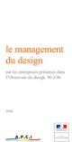 Le management du design par les entreprises présentes dans l'Observeur du design